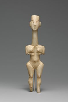 Marble female figure, Period:Early Cycladic I, B. Culture: Cycladic Medium: Marble Dimensions: H. cm) proof that women have always been held to impossible standards! Ancient Goddesses, Art Ancien, Art Premier, Mother Goddess, Art Sculpture, Greek Art, Ancient Artifacts, Old Art, Ancient Civilizations
