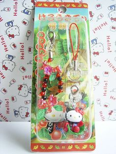 GOTOCHI HELLO KITTY Kawaii Mobile Cell Phone Charm Mascot Strap HIDA JAPAN NEW