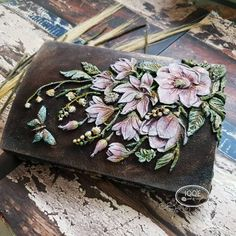Re·Design with Prima® Altered Boxes, Altered Art, Vintage Embroidery, Embroidery Patterns, Space Drawings, Repainting Furniture, Iron Orchid Designs, Decoupage Art, Sculpture Painting