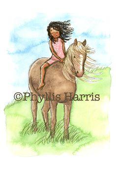 Children's Wall Art Print Illustration  by PhyllisHarrisDesigns, $25.00