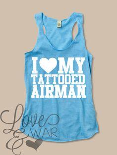 I love my tattooed AIRMAN racer back tank top - Love & War Clothing