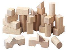 Bauklötze aus unbehandeltem Buchenholz für das Lernen von räumlichem Denken. Für Nachwuchs-Statiker und Architekten.