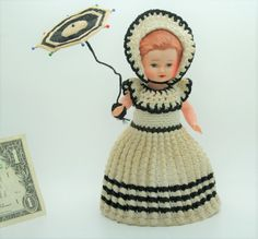 Vintage Celluloid Doll Marked by JuveloVintage on Etsy Rock A Bye Baby, 1940s, Arms, Crochet Hats, Dolls, Vintage, Etsy, Fashion, Moda