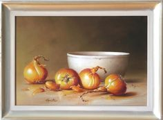 Zwiebeln mit weisser Tonschale 35 x 24