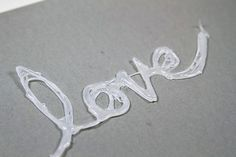 How to make a hot glue stencil via lilblueboo.com