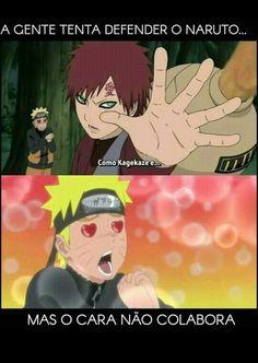 """""""Naruto é gay"""" kkkk não é não... """"Então me explica essa cena?"""" ...Só parece...  """"Mas vc shippa ele com os sasuke e gaara não shippa?"""" idai..."""