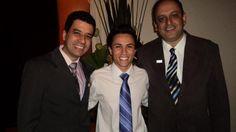 Ênio Lima e Emerson Romano, jornalistas esportivos.