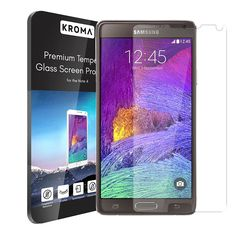 Kromatic™ Galaxy Note 4 Glass Screen Protector [Krystalin Series] World's Thinnest Ballistic Glass, Touch-screen Accuracy, Protection from Bumps, Drops, and Scrapes (Lifetime Warranty) Phone Screen Protector, Tempered Glass Screen Protector, Transparent Screen, Glass Suppliers, Auto Glass, Galaxy Note 4, Glass Film, Galaxies, Samsung Galaxy