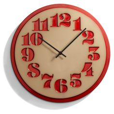 house industries and heath ceramics have teamed up to create several new ceramic clocks