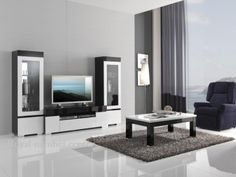 Woonkamer meubel Italiaanse Hoogglans zwart & wit 2