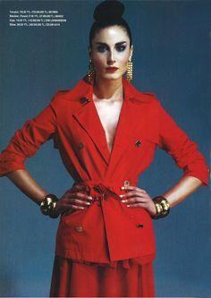 Lady in Red - Hülya Magazine/ April (2005)  Fashion Editor: Z.BERHAN YILMAZ  Photographer: BARIŞ AKTINMAZ
