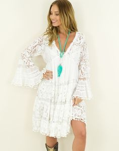 Jurk Odeva Ibiza Fashion, Cover Up, Tunic Tops, Dresses, Style, Fashion Styles, Vestidos, Swag, Dress