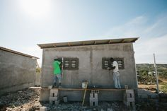 New Story has built 100 homes in Haiti since June, while the Red Cross has largely struggled to do the same. Hurricane Matthew, Community Building, Story House, Haiti, News Stories, Non Profit, Coding, Red Cross, World