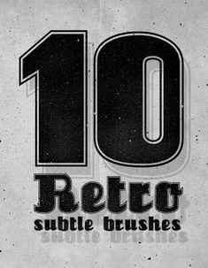 Бесплатный Photoshop Кисти Ретро Тонкие (10) Кисти
