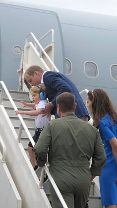 Prince Willliam, Duke of Cambridge and Prince George during a visit to the Royal International Air Tattoo at RAF Fairford on July 8, 2016 in Fairford, England.