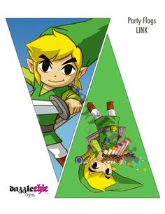 Zelda Link Party Banner by DazzleChic on Etsy, $5.00