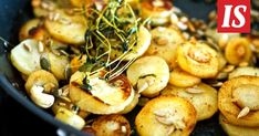 Palsternakka on kevään paras juures Food Tasting, Greens Recipe, Baked Potato, Potato Salad, Shrimp, Side Dishes, Food And Drink, Veggies, Cooking Recipes