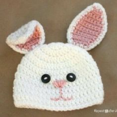 Bunny crochet beanie for my future niece