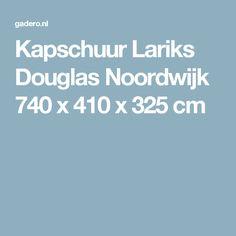 Kapschuur Lariks Douglas Noordwijk 740 x 410 x 325 cm