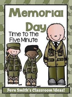 Memorial Day Themed Time to the Five Minute Go Fish, Old Maid, Concentration Center Games #TPT #FREE #FernSmithsClassroomIdeas