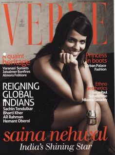 Saina Nehwal wears a Suhani Pittie cuff on the cover of Verve