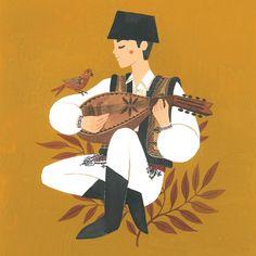 Folk Art Flowers, Flower Art, Ohh Deer, Surface Pattern, Traditional Art, Letterpress, Art For Kids, Character Design, Animation