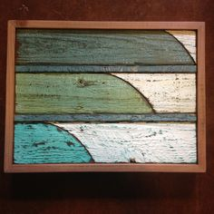 The thin line reclaimed wood surf art