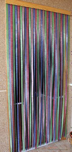 Cortina de anillas youtube reciclando chapas for Anillas plastico para cortinas