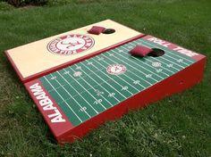 Alabama Crimson Tide Custom Cornhole Boards.    #SEC #Alabama #Roll Tide