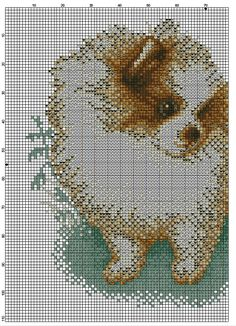 Cross Stitch Pomeranian And Chipmunk 2