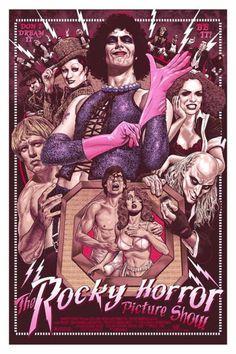 Horror Movie Posters, Movie Poster Art, Horror Films, Horror Art, Horror Stories, Rocky Horror Show, The Rocky Horror Picture Show, Horror Vintage, Retro Horror