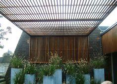 slatted pergola, Philip Nixon Design