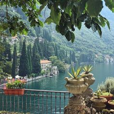 The magic of Lake Como, Italy. In the back is Varenna's century Villa M… The magic of Lake Como, Italy. In the back is Varenna's century Villa Monastero with its beautiful botanical gardens. Places To Travel, Places To See, Travel Destinations, Comer See, Travel Aesthetic, Aesthetic Korea, Nature Aesthetic, Summer Aesthetic, Adventure Is Out There