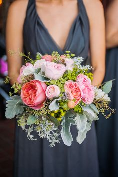 In LOVE with this Bouquet!! On http://www.StyleMePretty.com/northwest-weddings/2014/04/01/romantic-tacoma-wedding-of-high-school-sweethearts/  AlantePhotography.com