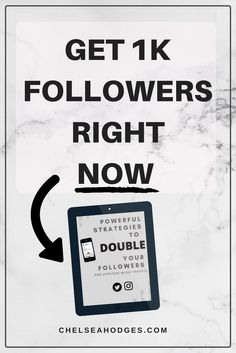 Learn how to get 1k following RIGHT NOW on social media AND how to convert to blog traffic! www.chelseahodges.com