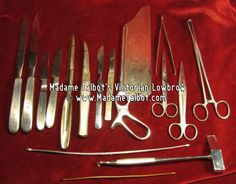 1940s Embalming Autopsy Dissecting Tools. For the ultimate haunted house