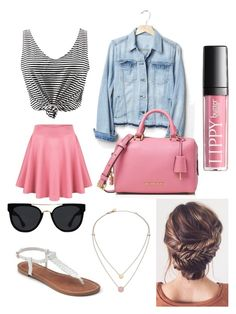 """""""Girls' Day Out"""" by sarah16wood ❤ liked on Polyvore featuring Gap, Michael Kors, Apt. 9, MICHAEL Michael Kors and Quay"""