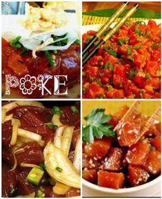 Traditional Four Delicious Poke Recipes Spicy Kim Chee Poke, Spicy Tuna Poke, Ahi Shoyu Poke..., ,
