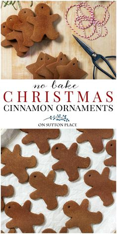 Kids Christmas Ornaments, Noel Christmas, Christmas Crafts For Kids, Christmas Projects, Simple Christmas, Holiday Crafts, Homemade Christmas Crafts, Gingerbread Ornaments, Christmas Ideas