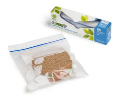 #Zipper bags are tremendously good at keeping your lunch fresh, but are tremendously bad for the #environment. Zipper bags cannot be recycled but also take hundreds of years to break down, meaning every zipper bags ever used still exists today. Thanks to TIPA, a #sustainable #packaging company, now you can use zipper bags that are #compostable…meaning they will be gone 180 days after you use them.