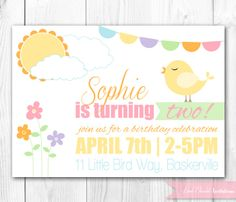 Easter birthday party invitation easter birthday party party bird birthday invitation easter birthday party spring birthday invite diy printable invite filmwisefo