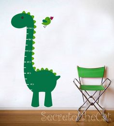Vinyl Decal  Dino Growth Chart  Vinyl Wall Art by secretofthecat, $45.00