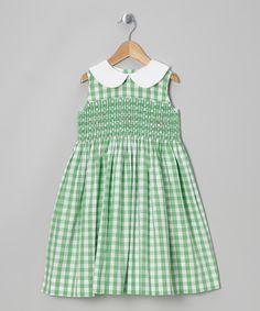 Green Gingham Smocked Dress - Infant, Toddler & Girls
