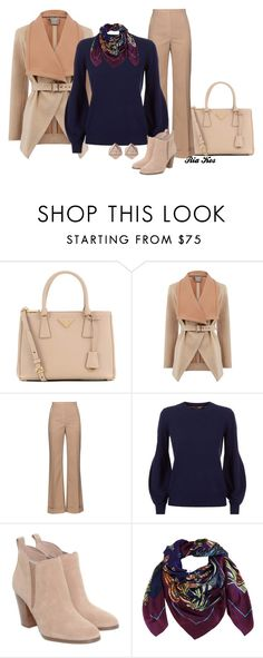 """""""winter outfit"""" by ria-kos ❤ liked on Polyvore featuring Prada, Oasis, Nina Ricci, Burberry, Michael Kors, Heron Design Studio and FOSSIL"""