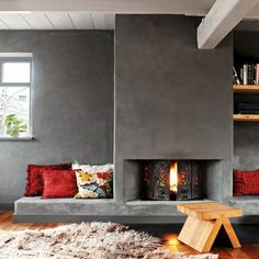 concrete-fireplace