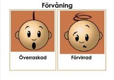 Mariaslekrum - Illustrerade känslor. Learn Swedish, Autism Spectrum, Social Skills, Language, Motivation, Education, Feelings, Learning, Tips