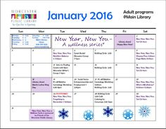 Check out our amazing programs for adults at the Main Library in January!