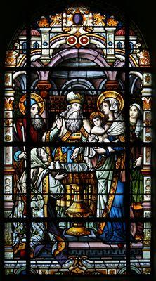 Opdracht van Jezus in de tempel -- by Atelier Frans Nicolas en Zonen -- in H. Johannes de Doper, Mechelen
