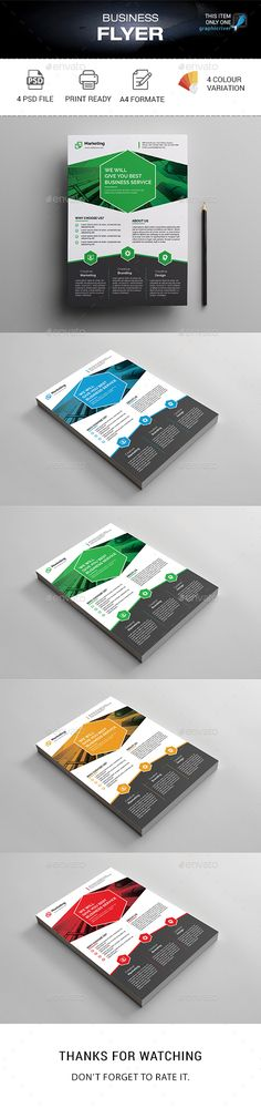 #Business #Flyer - #Corporate Flyers Download here:  https://graphicriver.net/item/business-flyer/20335380?ref=alena994