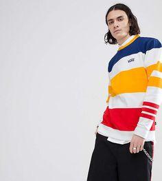 c52f86e6 Vans Sweatshirt In Multi Color Stripe In White Exclusive To ASOS Ropa  Deportiva, Camisetas,